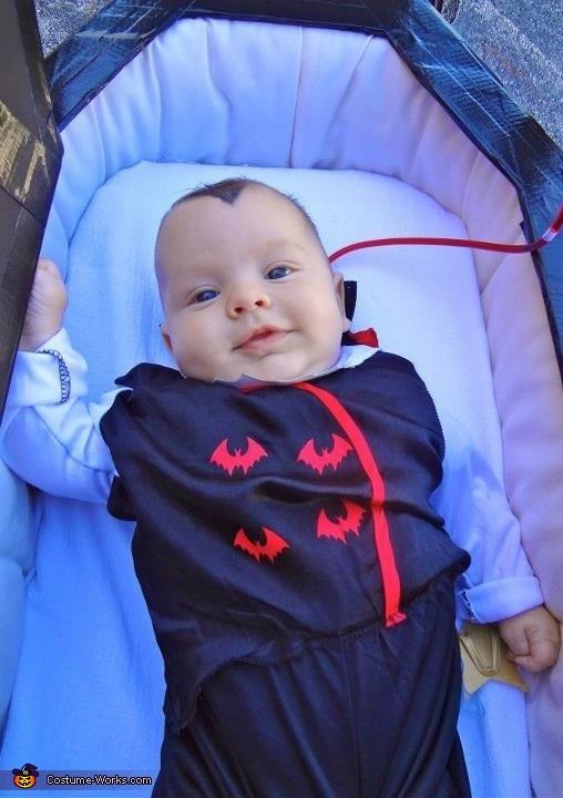 Lovin his first Halloween, Vampire Family Costume
