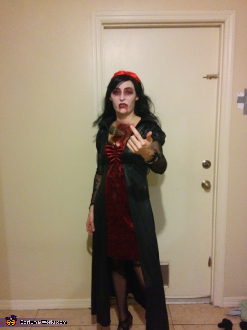 the whole costume, Vampire with Stake through Chest Costume