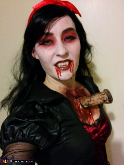 Vampire with Stake through Chest Costume