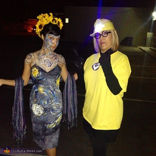 Me (left Van Gogh costume) and my mom (Minion), Van Gogh and his Masterpiece Couple's Costume