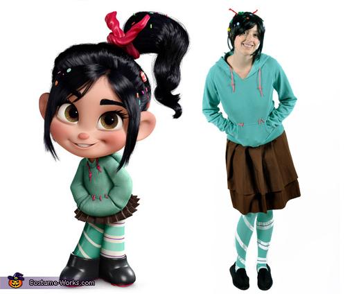 Comparison to Character, Vanellope Von Schweetz Costume