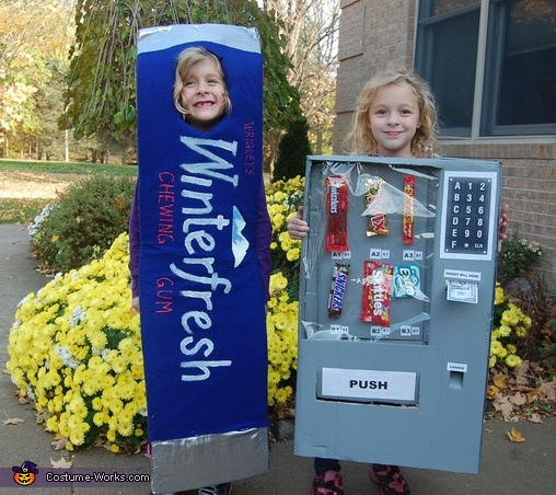 Vending Machine and Gum Costume