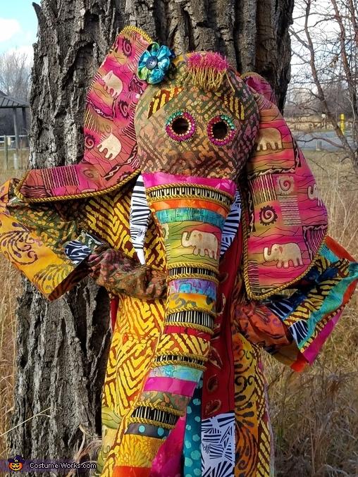 Vibrant African Elephant Homemade Costume