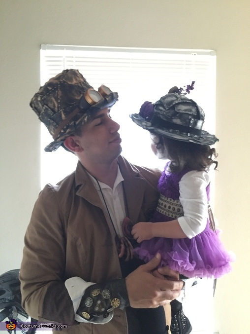 Father and daughter, Victorian Era Steampunk Costume
