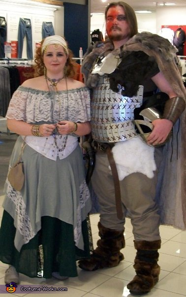 Viking and the Maiden - Homemade costumes for couples