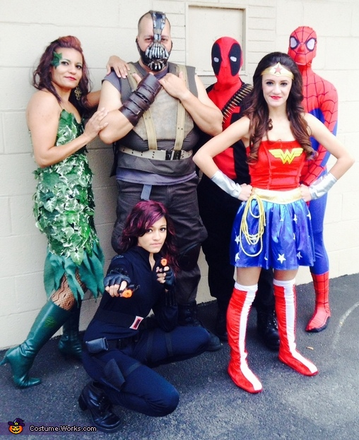 Villains vs Heroes Group Costume