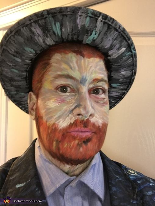 Self Portrait of a Van Gogh self portrait, Vincent Van Gogh - Self Portrait with Gray Felt Hat Costume
