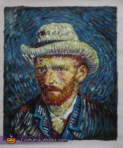 The inspiration for my costume was this portrait, Vincent Van Gogh - Self Portrait with Gray Felt Hat Costume