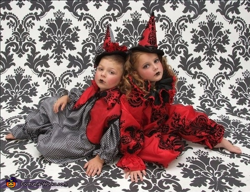 vintage clowns halloween costumes for kids