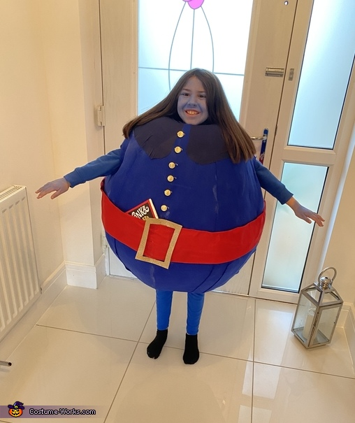 Violet from Willy Wonka Homemade Costume