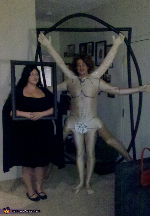 Vitruvian Man and Mona Lisa Costume