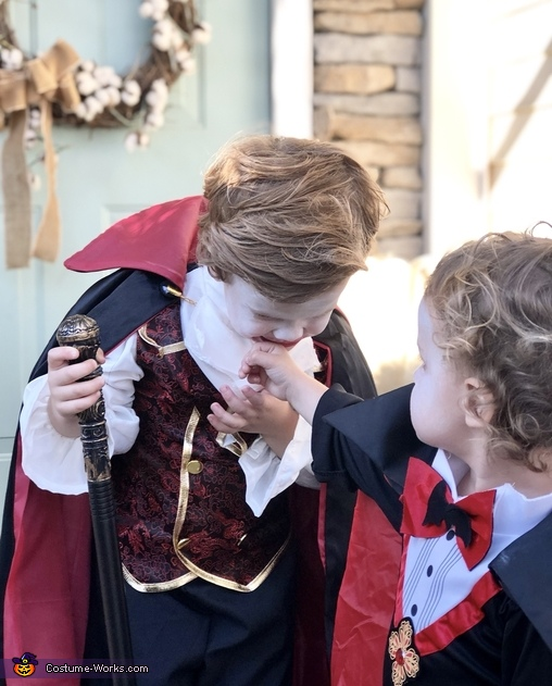 Sucking the blood of his brother, Vlad the Vampire Costume