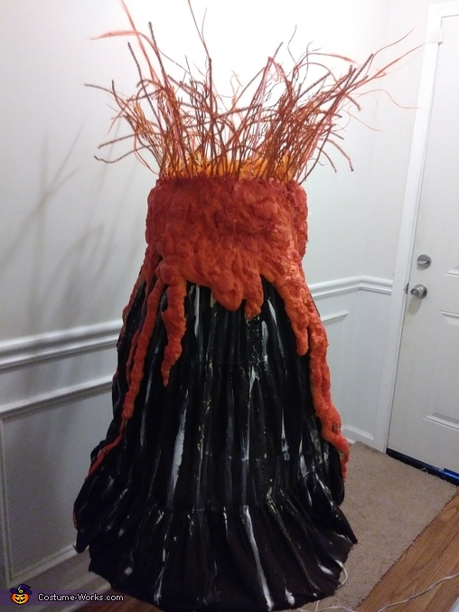Finished and drying, Volcano Costume