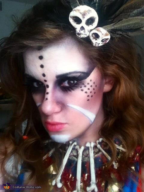 Homemade Voodoo Priestess Costume