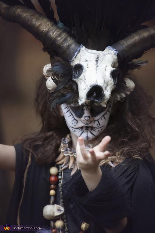 Close up, VooDoo Priestess Costume
