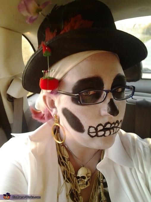 Close up of face, Voodoo Priestess Costume