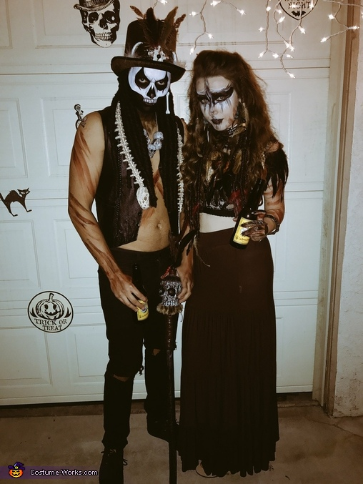 voodoo priestess and her witch doctor costume