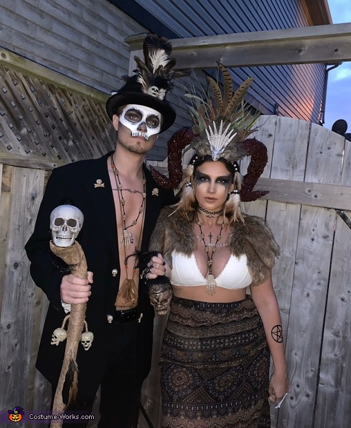 Ft. The shrunken head, Voodoo Priestess and her Witch Doctor Costume