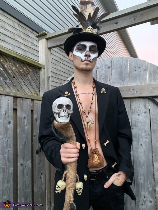 My staff is made from the trees at my cottage, Voodoo Priestess and her Witch Doctor Costume