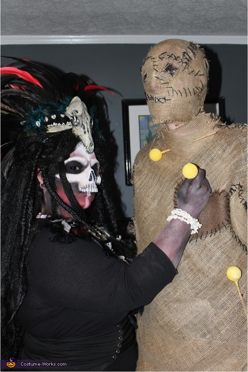 Voodoo Priestess and Voodoo Doll Costume