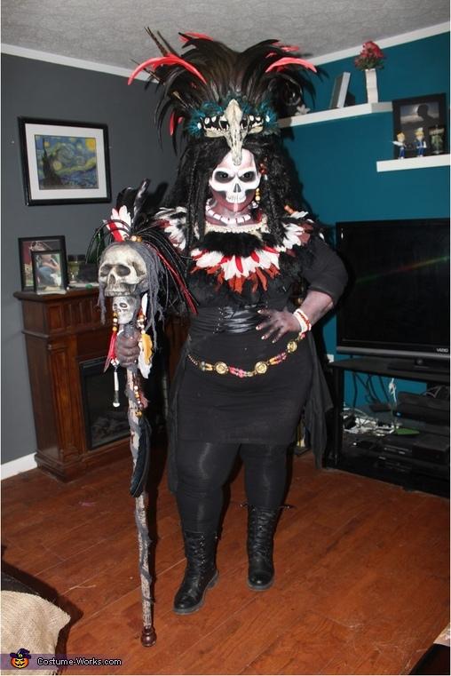 voodoo priestess, Voodoo Priestess and Voodoo Doll Costume