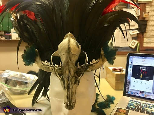 finished headdress, Voodoo Priestess and Voodoo Doll Costume