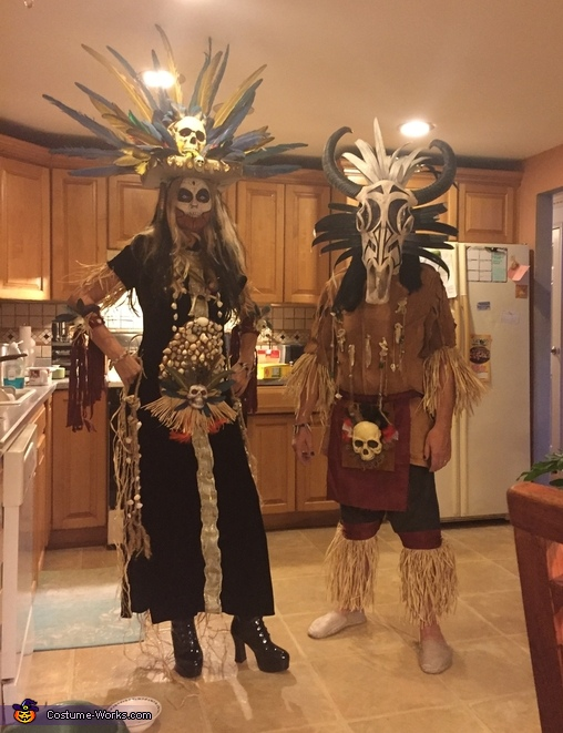 My hubby and I, Voodoo Princess Costume