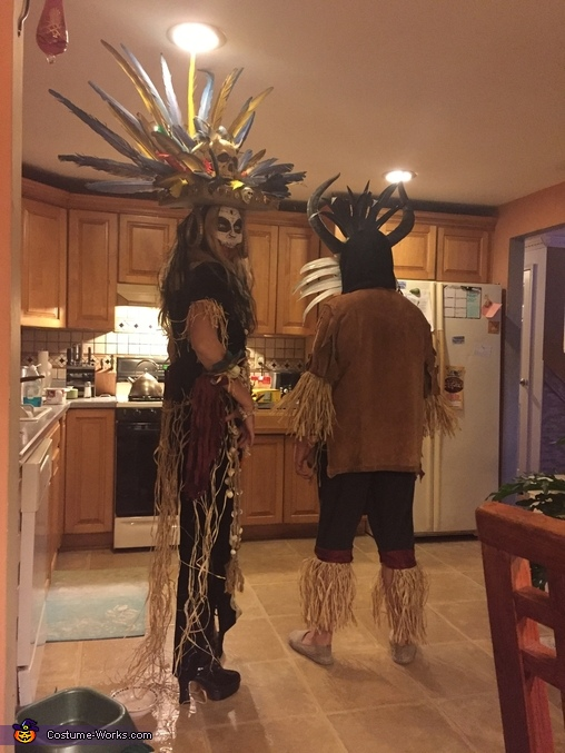 Side view, Voodoo Princess Costume