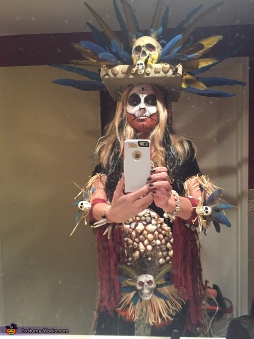 Another view, Voodoo Princess Costume