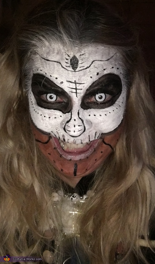 My scary grin, Voodoo Princess Costume