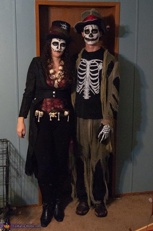 Voodoo Queen and her Undead Lover Costume
