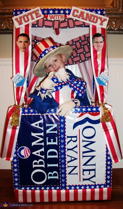 Vote with Candy! Voting Booth Costume