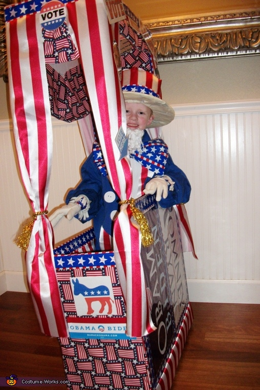 UNCLE SAM JR NEEDS YOUR VOTE, Vote with Candy! Voting Booth Costume