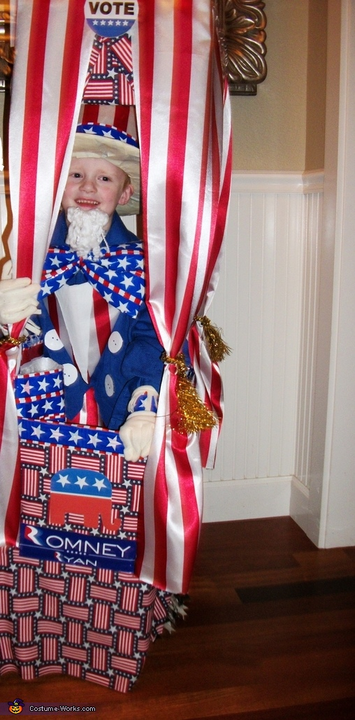 DEMOCRACY AT ITS FINEST, Vote with Candy! Voting Booth Costume