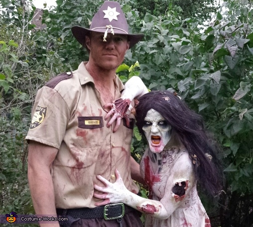Walking Dead Zombie and Rick Grimes Couples Costume