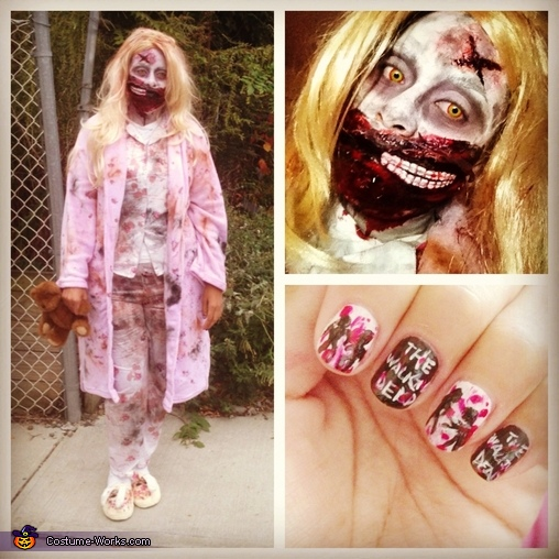 Walking Dead Zombie Girl Homemade Costume