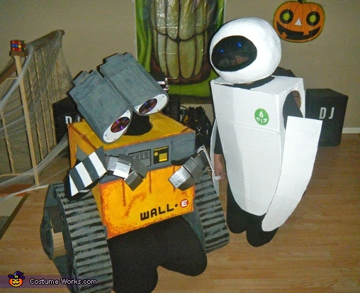 Homemade Wall E & Eve Costumes