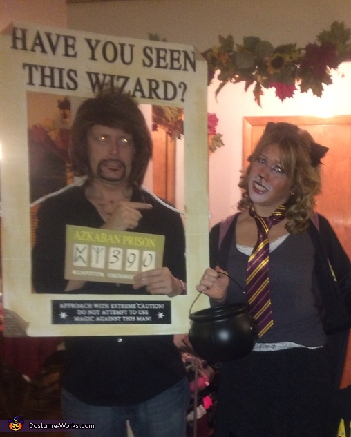 Dogs & Cats--Sirius and Hermione, Wanted: Sirius Black Costume
