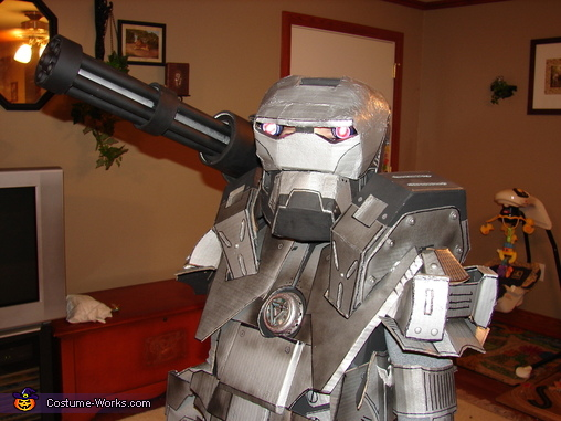 War Machine looking fierce, War Machine Ironman Costume