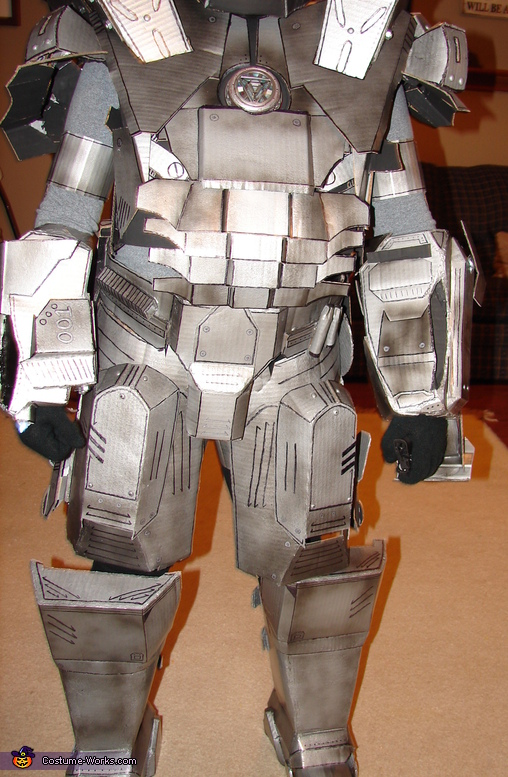 Front of body, detail, War Machine Ironman Costume