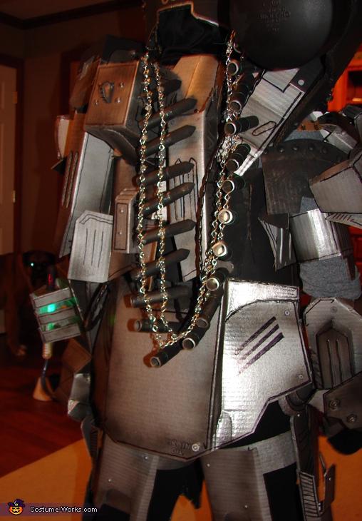 Back detail, War Machine Ironman Costume
