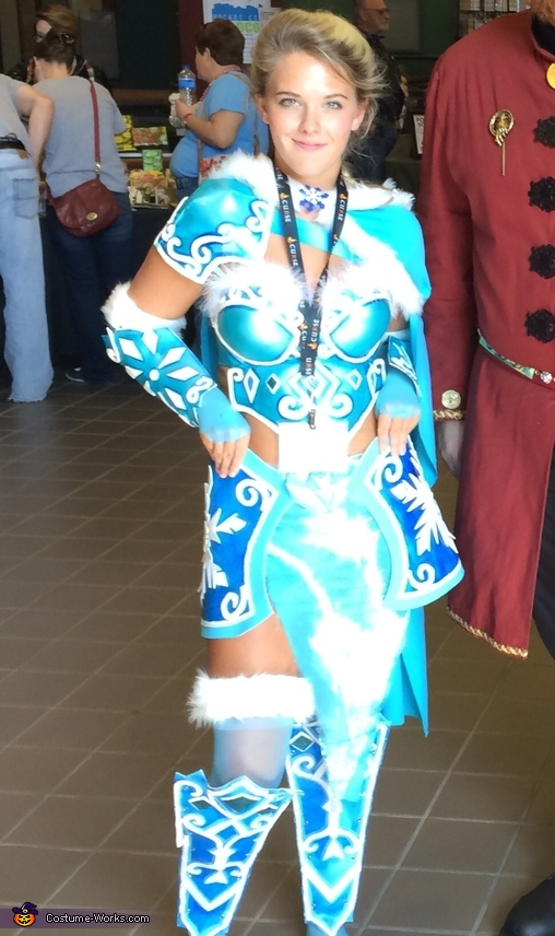 (Accidentally wearing my badge in this one), Warrior Elsa Costume