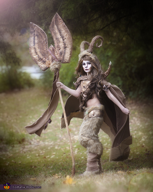Side View, Warrior Satyr Costume