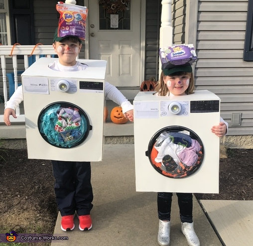 Washer and Dryer Homemade Costume