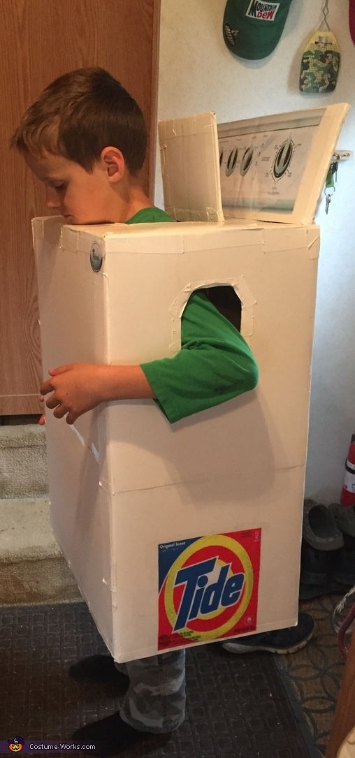Don't forget to add the detergent., Washer Boy Costume