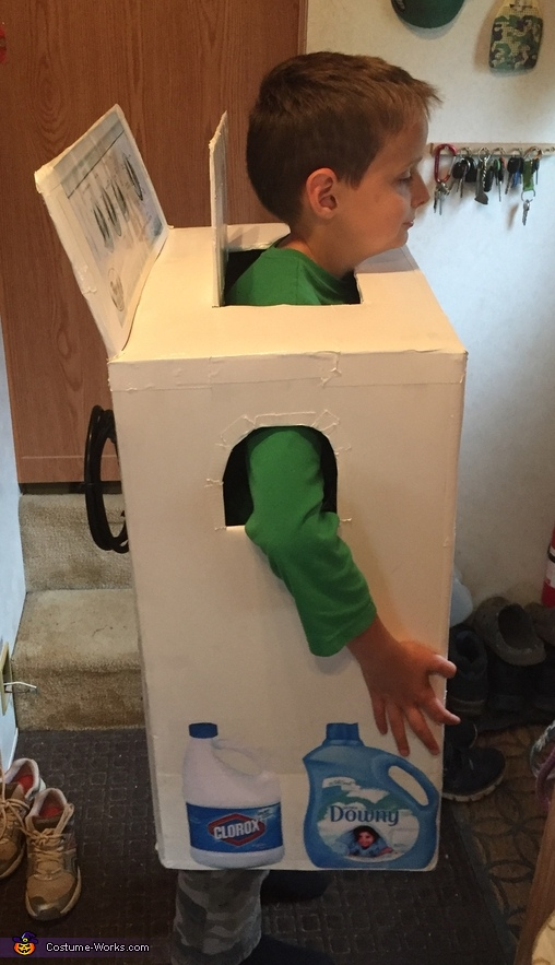 Last but not least, bleach for whites and fabric softener in every load., Washer Boy Costume