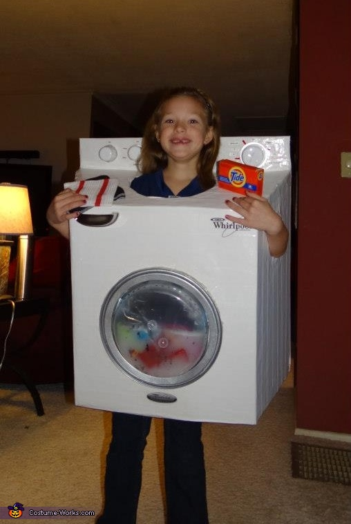 Washing Machine - Homemade costumes for girls