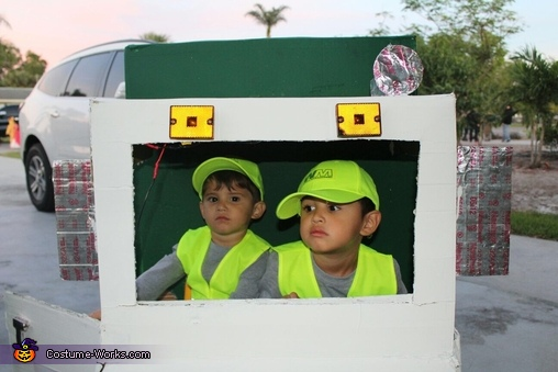 Waste Management Garbage Truck Homemade Costume