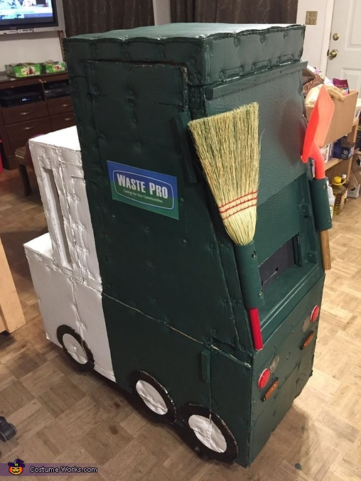 Waste Pro Garbage Truck Homemade Costume
