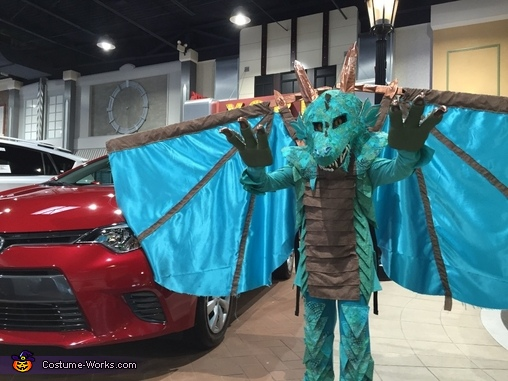 Some modeling for the local Toyota dealership's annual costume contest., Water Dragon Costume